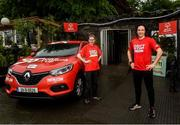 20 May 2021; 98FM Radio Presenter Brian Maher, pictured with Special Olympics athlete Edel Armstrong, proves he Can't Stop Now by running for 24 hours in aid of Special Olympics Ireland starting at the Hole In The Wall Pub in Dublin. Photo by Harry Murphy/Sportsfile