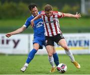 21 May 2021; Ronan Boyce of Derry City in action against Eric Molloy of Waterford during the SSE Airtricity League Premier Division match between Waterford and Derry City at RSC in Waterford. Photo by Matt Browne/Sportsfile