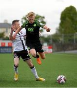 21 May 2021; Liam Scales of Shamrock Rovers in action against Cameron Dummigan of Dundalk during the SSE Airtricity League Premier Division match between Dundalk and Shamrock Rovers at Oriel Park in Dundalk, Louth. Photo by Stephen McCarthy/Sportsfile