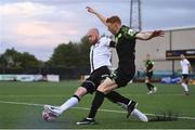 21 May 2021; Rory Gaffney of Shamrock Rovers in action against Chris Shields of Dundalk during the SSE Airtricity League Premier Division match between Dundalk and Shamrock Rovers at Oriel Park in Dundalk, Louth. Photo by Ben McShane/Sportsfile