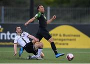 21 May 2021; Graham Burke of Shamrock Rovers is tackled by Michael Duffy of Dundalk during the SSE Airtricity League Premier Division match between Dundalk and Shamrock Rovers at Oriel Park in Dundalk, Louth. Photo by Stephen McCarthy/Sportsfile