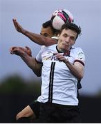 21 May 2021; Raivis Jurkovskis of Dundalk in action against Graham Burke of Shamrock Rovers during the SSE Airtricity League Premier Division match between Dundalk and Shamrock Rovers at Oriel Park in Dundalk, Louth. Photo by Ben McShane/Sportsfile