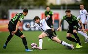 21 May 2021; Sam Stanton of Dundalk in action against Graham Burke, left, and Lee Grace of Shamrock Rovers during the SSE Airtricity League Premier Division match between Dundalk and Shamrock Rovers at Oriel Park in Dundalk, Louth. Photo by Stephen McCarthy/Sportsfile