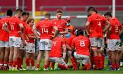 14 May 2021; CJ Stander of Munster (8) speaks to his team-mates during the Guinness PRO14 Rainbow Cup match between Munster and Connacht at Thomond Park in Limerick. Photo by Brendan Moran/Sportsfile