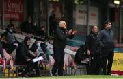 21 May 2021; Galway United manager John Caulfield during the SSE Airtricity League First Division match between Cork City and Galway United at Turners Cross in Cork. Photo by Michael P Ryan/Sportsfile