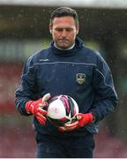 21 May 2021; Galway United goalkeeping coach Gianluca Aimi during warm up ahead of the SSE Airtricity League First Division match between Cork City and Galway United at Turners Cross in Cork. Photo by Michael P Ryan/Sportsfile