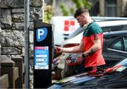 22 May 2021; Mayo's Jordan Flynn pays for his parking before the Allianz Football League Division 2 North Round 2 match between Westmeath and Mayo at TEG Cusack Park in Mullingar, Westmeath. Photo by Stephen McCarthy/Sportsfile