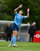 22 May 2021; Emily Whelan of Shelbourne reacts to a missed chance during the SSE Airtricity Women's National League match between Bohemians and Shelbourne at Oscar Traynor Coaching & Development Centre in Coolock, Dublin. Photo by Sam Barnes/Sportsfile
