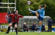 22 May 2021; Emily Whelan of Shelbourne in action against Isobel Finnegan of Bohemians during the SSE Airtricity Women's National League match between Bohemians and Shelbourne at Oscar Traynor Coaching & Development Centre in Coolock, Dublin. Photo by Sam Barnes/Sportsfile