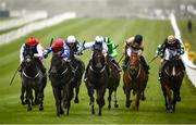 22 May 2021; Gustavus Weston, with Gary Carroll up, second from left, on their way to winning the Weatherbys Ireland Greenlands Stakes during day one of the Tattersalls Irish Guineas Festival at The Curragh Racecourse in Kildare. Photo by David Fitzgerald/Sportsfile