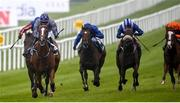 22 May 2021; Mac Swiney, with Rory Cleary up, left, on their way to winning the Tattersalls Irish 2,000 Guineas during day one of the Tattersalls Irish Guineas Festival at The Curragh Racecourse in Kildare. Photo by David Fitzgerald/Sportsfile