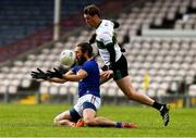 22 May 2021; Nicky Devereux of Wicklow in action against Conor Sweeney of Tipperary during the Allianz Football League Division 3 South Round 2 match between Tipperary and Wicklow at Semple Stadium in Thurles, Tipperary. Photo by Ray McManus/Sportsfile