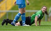 22 May 2021; Eleanor Ryan-Doyle of Peamount United celebrates after scoring her side's first goal during the SSE Airtricity Women's National League match between DLR Waves and Peamount United at UCD Bowl in Belfield, Dublin. Photo by Sam Barnes/Sportsfile