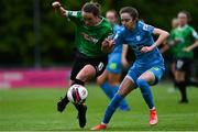 22 May 2021; Lucy McCartan of Peamount United in action against Shauna Carroll of DLR Waves during the SSE Airtricity Women's National League match between DLR Waves and Peamount United at UCD Bowl in Belfield, Dublin. Photo by Sam Barnes/Sportsfile