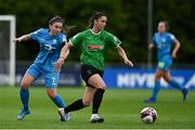 22 May 2021; Lauryn O'Callaghan of Peamount United in action against Rachel Doyle of DLR Waves during the SSE Airtricity Women's National League match between DLR Waves and Peamount United at UCD Bowl in Belfield, Dublin. Photo by Sam Barnes/Sportsfile