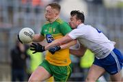22 May 2021; Oisín Gallen of Donegal in action against Ryan Wylie of Monaghan during the Allianz Football League Division 1 North Round 2 match between Donegal and Monaghan at MacCumhaill Park in Ballybofey, Donegal. Photo by Piaras Ó Mídheach/Sportsfile