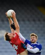 22 May 2021; Cíaran Sheehan of Cork in action against Mark Timmons of Laois during the Allianz Football League Division 2 South Round 2 match between Laois and Cork at MW Hire O'Moore Park in Portlaoise, Laois. Photo by Seb Daly/Sportsfile