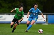 22 May 2021; Aoife Brophy of DLR Waves in action against Sabhdh Doyle of Peamount United during the SSE Airtricity Women's National League match between DLR Waves and Peamount United at UCD Bowl in Belfield, Dublin. Photo by Sam Barnes/Sportsfile