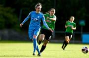 22 May 2021; Jess Gleeson of DLR Waves in action against Dora Gorman of Peamount United during the SSE Airtricity Women's National League match between DLR Waves and Peamount United at UCD Bowl in Belfield, Dublin. Photo by Sam Barnes/Sportsfile