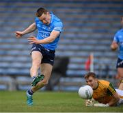 23 May 2021; Con O'Callaghan of Dublin scores his side's first goal past Kerry goalkeeper Kieran Fitzgibbon during the Allianz Football League Division 1 South Round 2 match between Dublin and Kerry at Semple Stadium in Thurles, Tipperary. Photo by Stephen McCarthy/Sportsfile