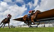 23 May 2021; Earlswood, right, with Ben Coen up, on their way to winning the Heider Family Stables Gallinule Stakes, from second place Arturo Toscanini, with Wayne Lordan up, during day two of the Tattersalls Irish Guineas Festival at The Curragh Racecourse in Kildare. Photo by Seb Daly/Sportsfile
