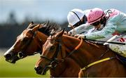 23 May 2021; Helvic Dream, right, with Colin Keane up, races alongside eventual second place Broome, with Ryan Moore up, on their way to winning the Tattersalls Gold Cup during day two of the Tattersalls Irish Guineas Festival at The Curragh Racecourse in Kildare. Photo by Seb Daly/Sportsfile