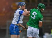 23 May 2021; Kieran Bennett of Waterford and Mark Quinlan of Limerick tussle during the Allianz Hurling League Division 1 Group A Round 3 match between Waterford and Limerick at Walsh Park in Waterford. Photo by Sam Barnes/Sportsfile