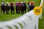 23 May 2021; Visualisation, far right, with Declan McDonogh up, on their way to winning the Irish Stallion Farms EBF 'Habitat' Handicap during day two of the Tattersalls Irish Guineas Festival at The Curragh Racecourse in Kildare. Photo by Seb Daly/Sportsfile