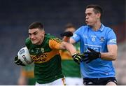 23 May 2021; Seán O'Shea of Kerry and Brian Fenton of Dublin during the Allianz Football League Division 1 South Round 2 match between Dublin and Kerry at Semple Stadium in Thurles, Tipperary. Photo by Stephen McCarthy/Sportsfile