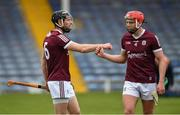 22 May 2021; Galway players Padraic Mannion, left, and TJ Brennan after the Allianz Hurling League Division 1 Group A Round 3 match between Tipperary and Galway at Semple Stadium in Thurles, Tipperary. Photo by Ray McManus/Sportsfile