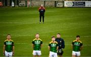 23 May 2021; Down selector Stephen Beattie stands for Amhrán na bhFiann prior to the Allianz Football League Division 2 North Round 2 match between Down and Meath at Athletic Grounds in Armagh. Photo by David Fitzgerald/Sportsfile