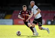 24 May 2021; Chris Shields of Dundalk in action against Ross Tierney of Bohemians during the SSE Airtricity League Premier Division match between Bohemians and Dundalk at Dalymount Park in Dublin. Photo by Seb Daly/Sportsfile