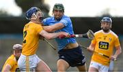 22 May 2021; Chris Crummey of Dublin in action against Damon McMullan of Antrim during the Allianz Hurling League Division 1 Round 3 match between Dublin and Antrim in Parnell Park in Dublin. Photo by Brendan Moran/Sportsfile