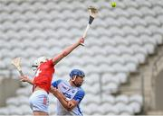9 May 2021; Patrick Horgan of Cork tries to gather possession as he is tackled by Conor Prunty of Waterford during the Allianz Hurling League Division 1 Group A Round 1 match between Cork and Waterford at Páirc Ui Chaoimh in Cork. Photo by Piaras Ó Mídheach/Sportsfile