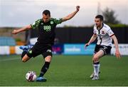 21 May 2021; Graham Burke of Shamrock Rovers and Michael Duffy of Dundalk during the SSE Airtricity League Premier Division match between Dundalk and Shamrock Rovers at Oriel Park in Dundalk, Louth. Photo by Ben McShane/Sportsfile