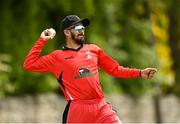27 May 2021; Amish Sidhu of Munster Reds fields during the Cricket Ireland InterProvincial Cup 2021 match between Munster Reds and Northern Knights at Pembroke Cricket Club in Dublin. Photo by Harry Murphy/Sportsfile