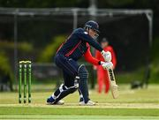 27 May 2021; Neil Rock of Northern Knights bats during the Cricket Ireland InterProvincial Cup 2021 match between Munster Reds and Northern Knights at Pembroke Cricket Club in Dublin. Photo by Harry Murphy/Sportsfile