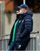 28 May 2021; Leinster head coach Leo Cullen prior to the match between Ireland U20 and Leinster A at Energia Park in Dublin. Photo by Ramsey Cardy/Sportsfile