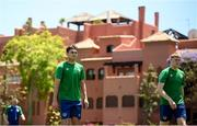 28 May 2021; Oisin McEntee, left, and Mark McGuinness during a Republic of Ireland U21 training session in Marbella, Spain. Photo by Stephen McCarthy/Sportsfile