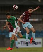 28 May 2021; Gearóid Morrissey of Cork City in action against Lee Devitt of Cobh Ramblers during the SSE Airtricity League First Division match between Cobh Ramblers and Cork City at St Colman's Park in Cobh, Cork. Photo by Michael P Ryan/Sportsfile