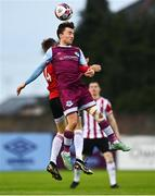 28 May 2021; Darragh Markey of Drogheda United in action against Ciaron Harkin of Derry City during the SSE Airtricity League Premier Division match between Drogheda United and Derry City at Head in the Game Park in Drogheda, Louth. Photo by Eóin Noonan/Sportsfile