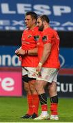 28 May 2021; CJ Stander and James Cronin of Munster after the Guinness PRO14 Rainbow Cup match between Munster and Cardiff Blues at Thomond Park in Limerick. Photo by Matt Browne/Sportsfile