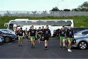 29 May 2021; Donegal players make their way from the team bus to the stadium before the Allianz Football League Division 1 North Round 3 match between Armagh and Donegal at the Athletic Grounds in Armagh. Photo by Piaras Ó Mídheach/Sportsfile