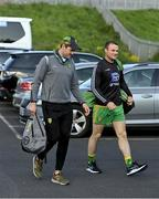 29 May 2021; Donegal players Michael Murphy, left, and Neil McGee make their way to the stadium before the Allianz Football League Division 1 North Round 3 match between Armagh and Donegal at the Athletic Grounds in Armagh. Photo by Piaras Ó Mídheach/Sportsfile