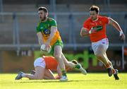 29 May 2021; Eoghan Bán Gallagher of Donegal gets past Ross Finn of Armagh during the Allianz Football League Division 1 North Round 3 match between Armagh and Donegal at the Athletic Grounds in Armagh. Photo by Piaras Ó Mídheach/Sportsfile