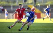 29 May 2021; Ryan Wylie of Monaghan in action against Kieran McGeary of Tyrone during the Allianz Football League Division 1 North Round 3 match between Tyrone and Monaghan at Healy Park in Omagh, Tyrone. Photo by Philip Fitzpatrick/Sportsfile