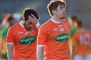 29 May 2021; Jack Grugan of Armagh reacts after the drawn Allianz Football League Division 1 North Round 3 match between Armagh and Donegal at the Athletic Grounds in Armagh. Photo by Piaras Ó Mídheach/Sportsfile