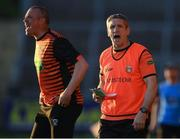 29 May 2021; Armagh manager Kieran McGeeney, right, and Armagh coach Kieran Donaghy during the Allianz Football League Division 1 North Round 3 match between Armagh and Donegal at the Athletic Grounds in Armagh. Photo by Piaras Ó Mídheach/Sportsfile