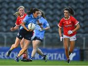 29 May 2021; Hannah Tyrrell of Dublin in action against Róisín Phelan of Cork during the Lidl Ladies National Football League Division 1B Round 1 match between Cork and Dublin at Páirc Ui Chaoimh in Cork. Photo by Eóin Noonan/Sportsfile