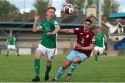28 May 2021; Alec Byrne of Cork City in action against Cian Murphy of Cobh Ramblers during the SSE Airtricity League First Division match between Cobh Ramblers and Cork City at St Colman's Park in Cobh, Cork. Photo by Michael P Ryan/Sportsfile
